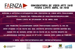 CONVOCATORIA VIDEO ARTE FAENZA 2018