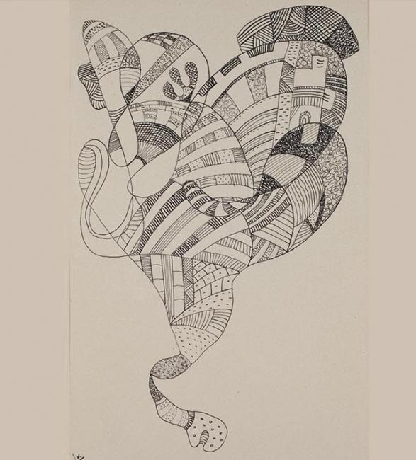 Vasily Kandinsky, Sin título, 1941 — Cortesía del Museo Universidad de Navarra