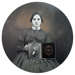 Cristina Toledo. Widow. 2018, óleo sobre lienzo, 100x100cm.