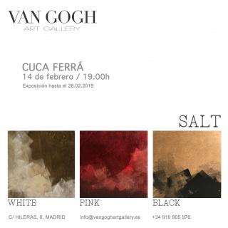 Cuca Ferrá, SALT (white, pink, black) — Invitación