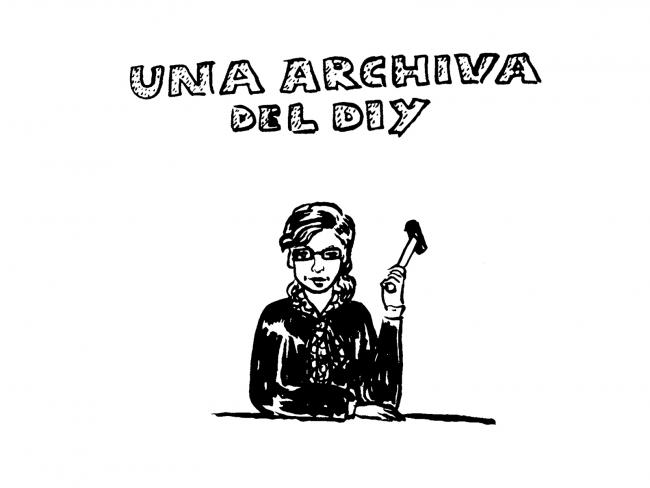 """Imatge de """"lápiz x baqueta"""", edito-distro d'Una Archiva del DIY (des de 2011) — Cortesía del MACBA"""