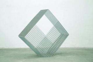 Prisma 3, 2020, aluminum and stainless steel screws,168x193x55 cm