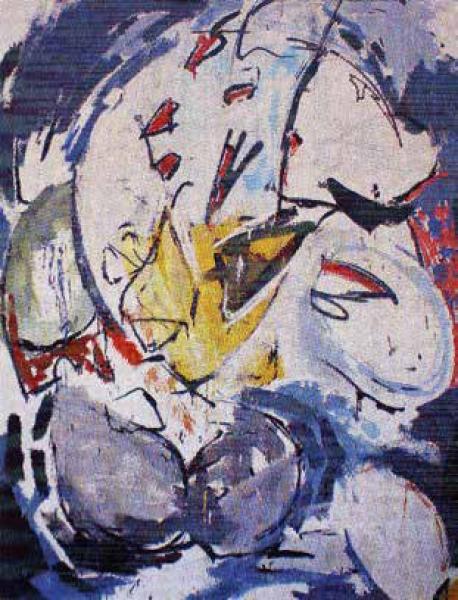 José María Hevilla Villalobos, Sin título III, 2016, 160 x 120 cm. Acrílico / madera