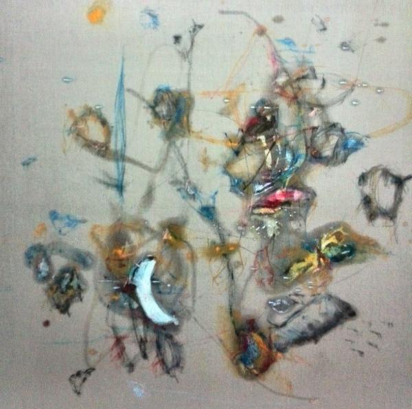 CRISTÓBAL ORTEGA, Sudoración de van Gogh, Óleo sobre lienzo