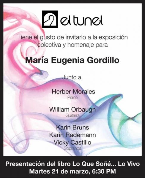 Colectiva homenaje a María Eugenia Gordillo