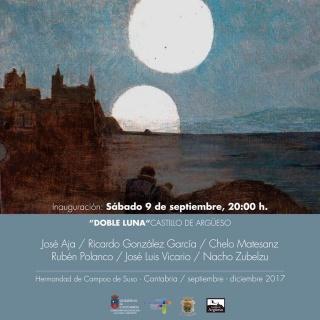 """Exposición """"Doble luna"""", con detalle del cuadro de Casimiro Sainz (1889)"""