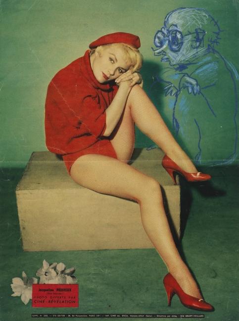 Pablo Picasso. 'Composició humorística. Jaume Sabartés i Jacqueline Pierreux'. c. 1957. Museu Picasso, Barcelona.Donació Jaume Sabartés, 1964. MPB70.676. Museu Picasso, Barcelona. Fotografia, Gasull Fotografia © Successió Pablo Picasso, VEGAP, Madrid 2018