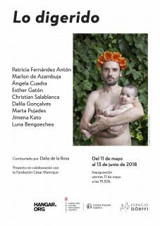 """Lo digerido. Imagen de Cartel de la artista Marta Pujades de la serie """"Hombres coronados"""""""