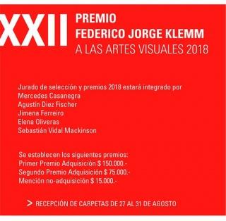 XXII Premio Fundación Federico Jorge Klemm a las Artes Visuales