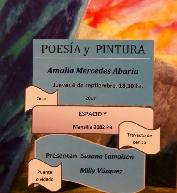 """Flyer """"Poesía y Pintura"""""""