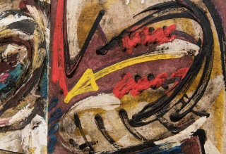LUIZ HENRIQUE SCHWANKE Sem título [Untitled] 1980  óleo sobre tela [oil on canvas] 88 x 121 cm