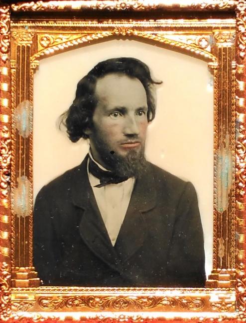 Artist anonymous, Touseld hair man, c. 1854-65.