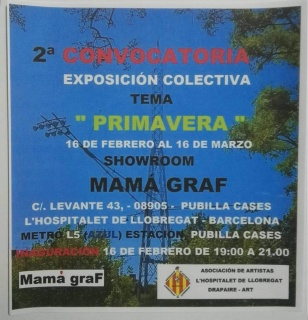 """Cartel referente a la exposición colectiva """" PRIMAVERA"""""""