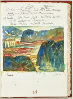 Una página de «Diario de un Viaje a la Isla / The Journal of a Trip to the Island,» May 4, 1998, por Lydia Rubio. Cortesía de Frost Art Museum-FIU.