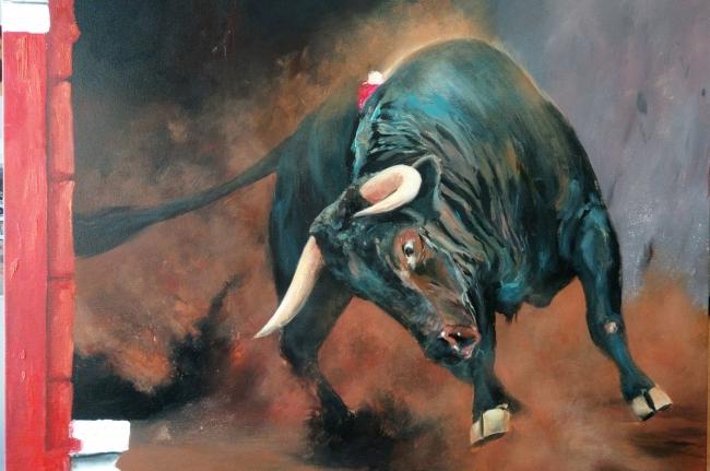 La belleza del toro en pintura — Cortesía de la Galería Michel Menendez