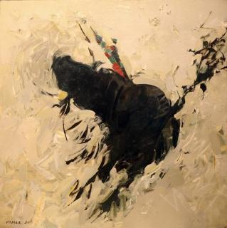 Touro, 1960. Pintura a Óleo. Coleção Associação Promotora do Museu do Neo-Realismo.