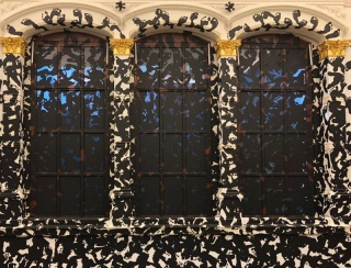 """Regina Silveira, """"Intro 2, Irruption serie"""", 2019 — Cortesía de Luciana Brito Galeria"""