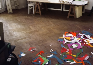 THOMAS DEMAND, Atelier, 2014 . C-Print sobre Diasec, 240 x 341 cm. © Thomas Demand, VG Bild-Kunst, Bonn. Cortesía del artista y Esther Schipper, Berlin