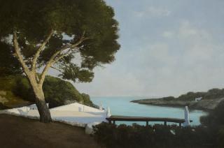 María Perelló, S'hora baixa, Binisafúller, 80 x 120 cm. — Cortesía de la Galeria Jordi Barnadas