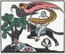 SAMICO, Alexandrino e o pássaro de fogo, 1962, xilogravura sobre papel de arroz, 42,7 x 51,7 cm