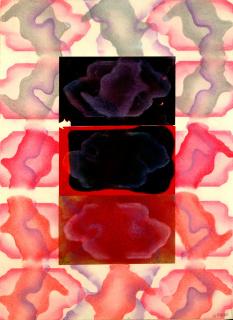 José Luis Alexanco, Mendocino, 1976. Collage: pastel sobre cartulina, 76 x 56 cm.— Cortesía de Maisterravalbuena