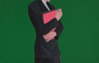 Darwin Estacio Martinez, Pink and Green. Acrylic on canvas, 51.5x79¨¨