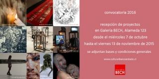 Galería Bech - Convocatoria Proyectos de Exposición. Calendario 2016