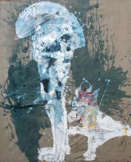 Luis Vidal, Óleo sobre tela (162 x 130 cm.)