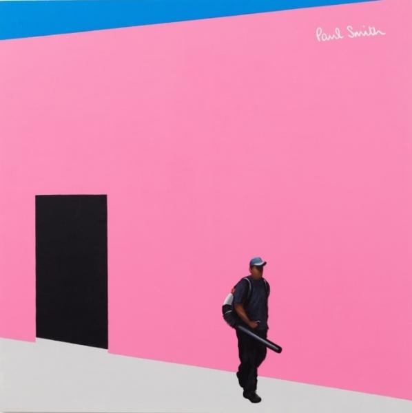 Ramiro Gomez, Paul Smith Store, 2015. Acrílico sobre lienzo. 72 x 72 pulgadas. Cortesía del artista y de la Charlie James Gallery. © Ramiro Gomez