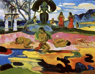 Mahana No Atua (Day of the Gods), after Gauguin, de la serie Pictures of Pigment, 2005. Presente en la exposición Vik Muniz: photography and the Rebirth of Wonder, Chrysler Museum of Art, Norfolk