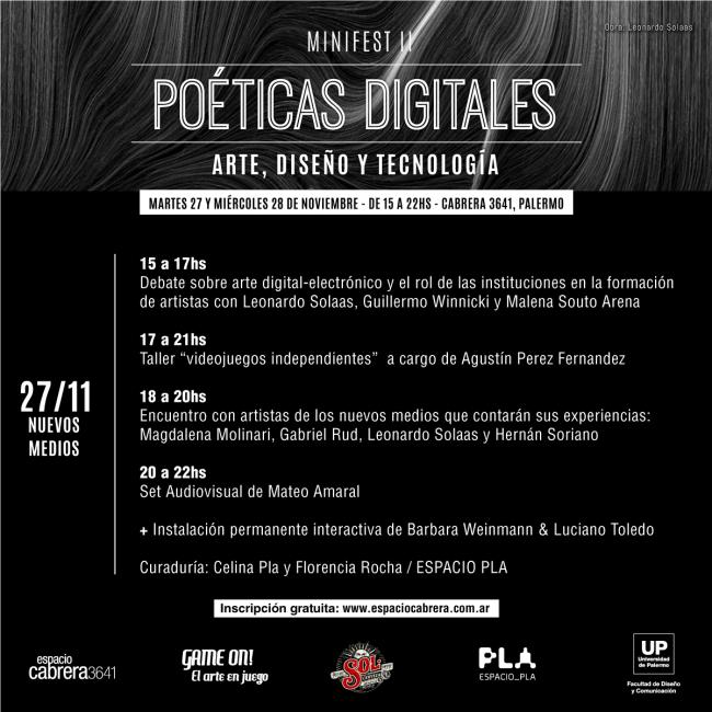 Mini Fest II Poéticas digitales. Imagen cortesía Espacio Pla