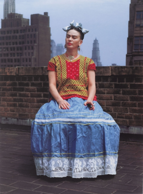Nickolas Muray (American, born Hungary, 1892–1965). Frida in New York, 1946? printed 2006. Carbon pigment print, image: 14 x 11 in. (35.6 x 27.9 cm). Brooklyn Museum? Emily Winthrop Miles Fund, 2010.80. Photo by Nickolas Muray, © Nickolas Muray Photo Arch