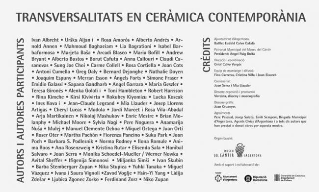 Transversalitats en cerámica contemporánea