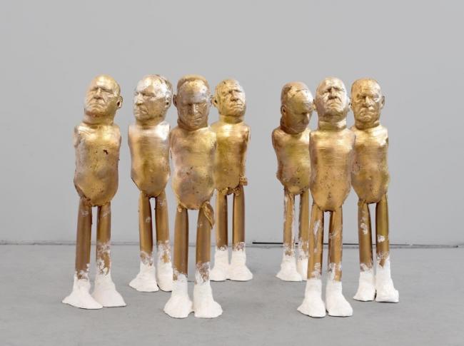 Enrique Marty, ST (Fall of the idols. Fase 2) 2014?2015. Técnica mixta — Cortesía de la Sala Robayera