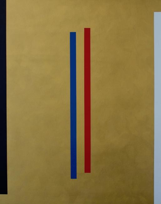 Freddy Rodríguez, Gold Wins, acrílico sobre tela, 132 x 107 cms. 2017