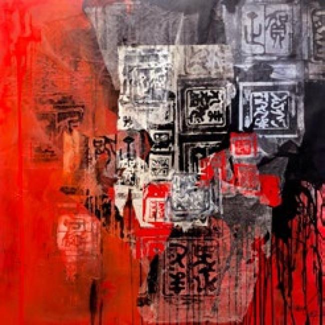 Antoni Clavé. Ankos en rouge et noir, c. 1986 — Cortesía del Gremi de Galeries d'Art de Catalunya