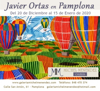 Anuncio exposición en Pamplona