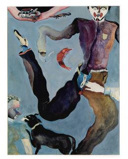 Francisco Toledo, El pantalón azul, 1973 — Cortesía de Casa de México en España