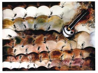 Francisco Toledo, La bomba del flit, 1974 — Cortesía de Casa de México en España