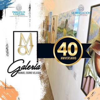 40º aniversario de la Galería Manuel Osorio Velasco - Logo