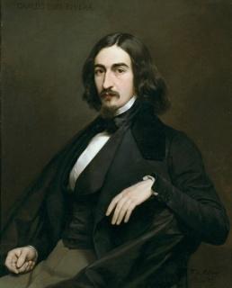 El pintor Carlos Luis de Ribera, 1839. Federico de Madrazo. Óleo sobre lienzo. Firmado y fechado