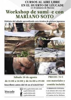 Workshop de sumi-e con Mariano Soto