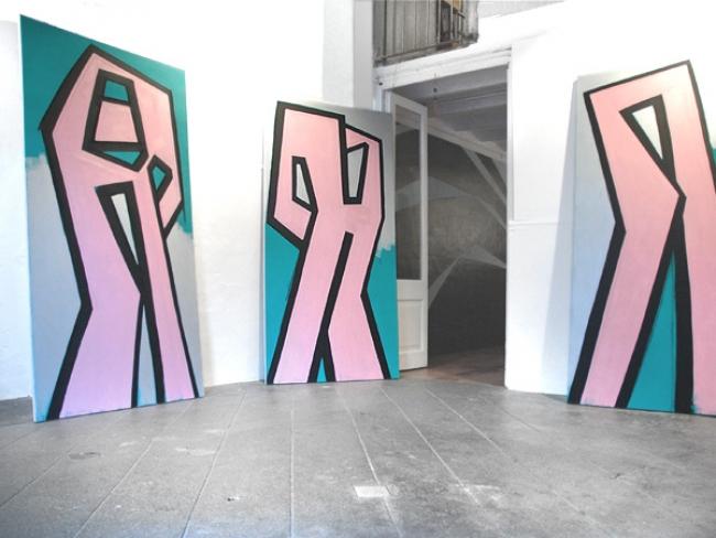 Vista de sala 'Army'. Cortesía de Piers Veness y Square Art Projects