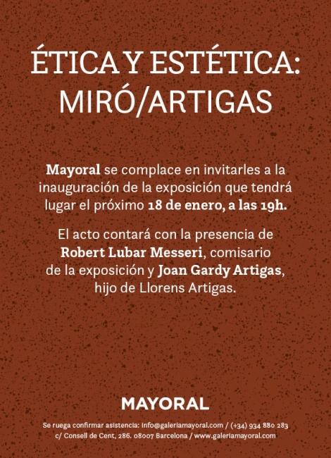 Ética y estética: Miró/Artigas