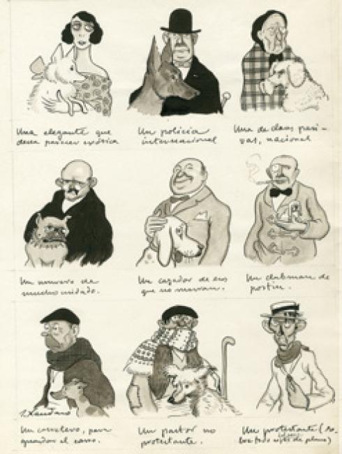 JOAQUÍN XAUDARÓ. DIME QUE PERRO TIENES, Y ETC…, 1921 ©MUSEO ABC – Cortesía del Museo ABC
