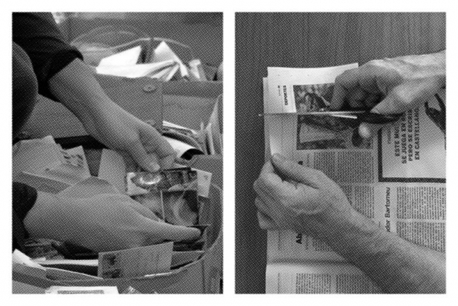 Ignasi Aballi - Oriol Vilanova, Reversible, 2018. Imagen del proceso, cortesía de los artistas y de la Galería Estrany-de la Mota
