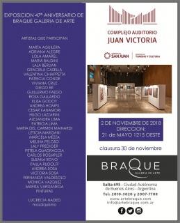 Exposicion 47° Aniversario de Braque. Imagen cortesía Braque