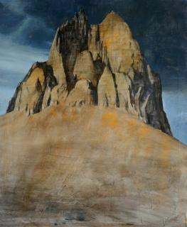 Montaña de día, 2017, óleo sobre lienzo, 100x80 cm.