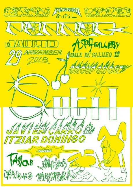 Perreo Sutil - en la galería ASPA Contemporary - Cartel