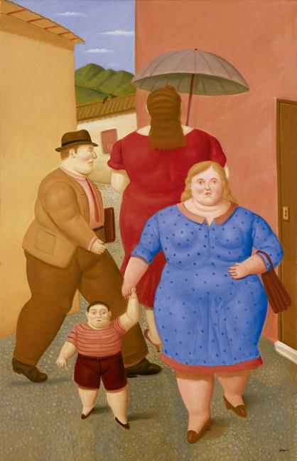 Fernando Botero, The Street — Cortesía de Galería Marlborough - Madrid